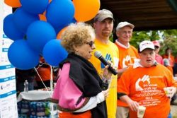 Co-Chairs_Barbara_Aronica_Buck_and_Marcus_Sweeney_of_Stamford_Address_the_Walkers_-_Copy.JPG