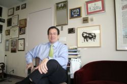 Mayor Malloy in his office at City Hall
