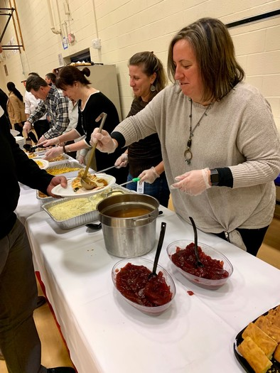 Schoolwide Thanksgiving Lunch Nourishes Students' Body & Soul