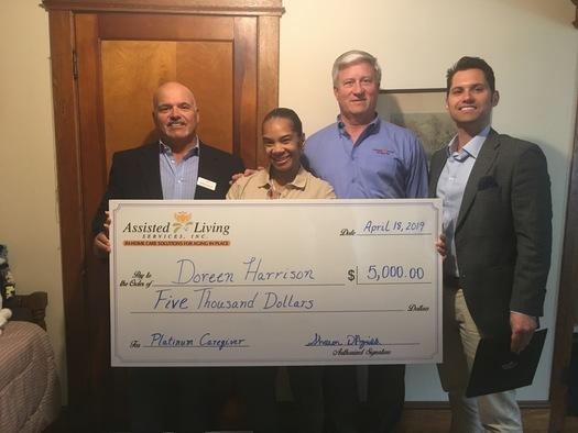 CT Home Caregiver Surprised with $5,000 Award from Assisted Living Services