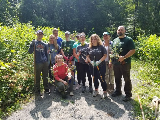 Eagle Scout project expands Pollinator Pathway project on the Norwalk River Valley Trail