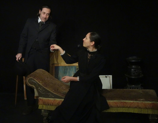 Andre Herzegovitch And Catherine Luciani Play Famous Artists Edgar Degas Mary Cassatt In Curtain Calls World Premiere Production Of Christopher Wards