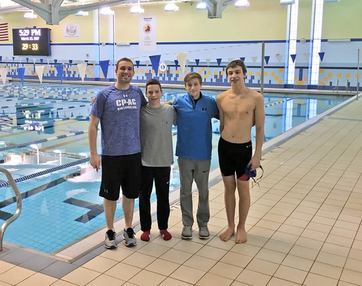 Swim team relay sets State record